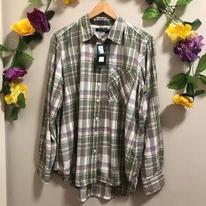 Ralph Lauren LAUREN Plaid Button Down Shirt